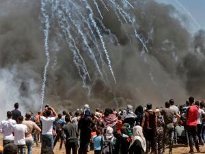 Gaza Palestinians Enter Israel, Set Fire To IDF Outpost