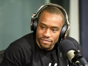 Marc Lamont Hill visits 'Sway In The Morning' on Eminem's Shade 45 channel with Sway Calloway at SiriusXM Studio on August 1, 2016 in New York City.