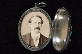 Louis Moreau Gottschalk, one of the most famous pianist of his time. Locket with photo. The Historic New Orleans Collection.