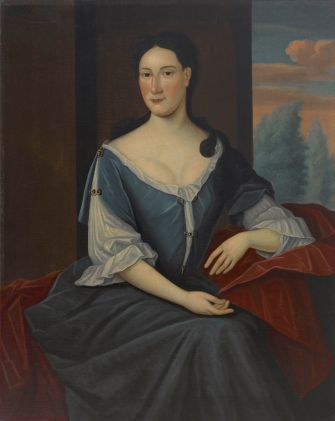 Mrs. Jacob (Abigaill Levy) Franks (1696-1756. Painted by Gerardus Duyckinck I (1695-1746). Oil on canvas Crystal Bridges Museum of American Art, Bentonville, Arkansas.