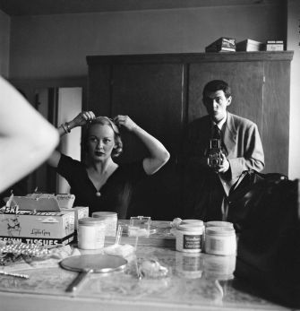 """Stanley Kubrick With Faye Emerson from """"Faye Emerson: Young Lady in a Hurry."""""""