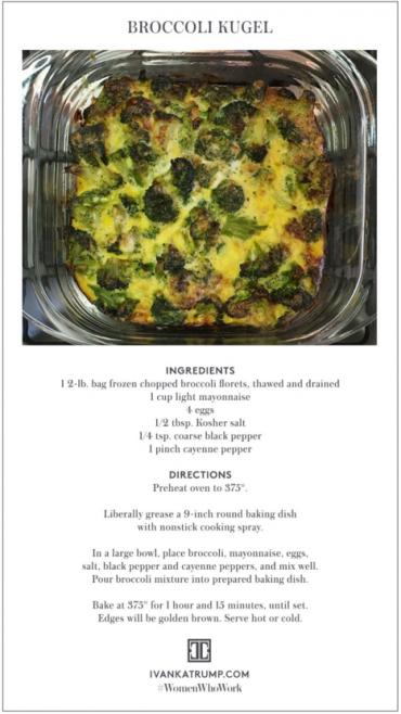 According to Ivanka Trump, this dish (which she found in Jamie Geller's 'Joy