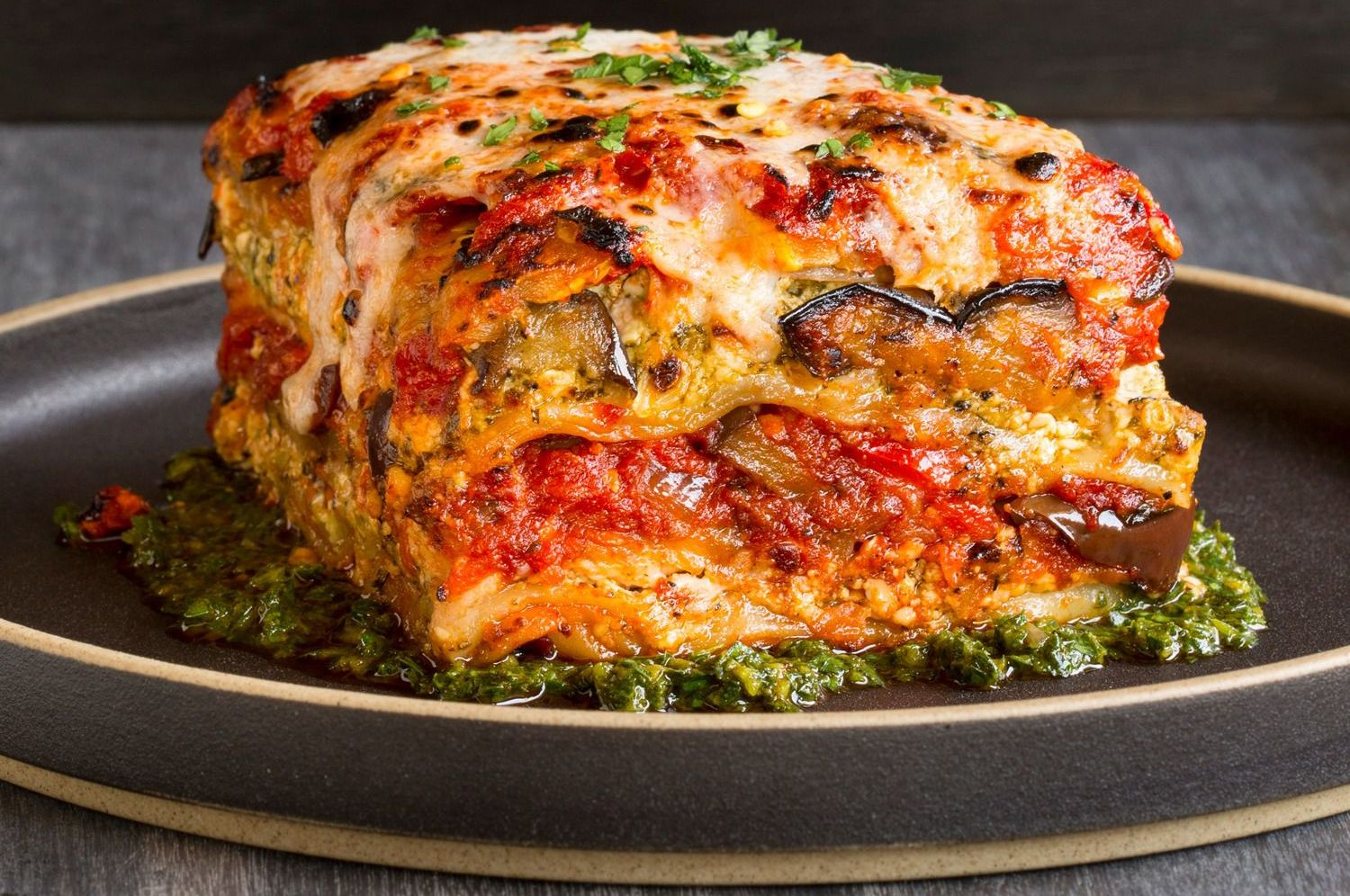 Vegan Lasagna Need We Say More Tal Ronnen S Version With Grilled Eggplant Roasted