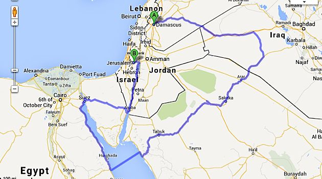 How long is the road from jerusalem to damascus the forward how long is the road from jerusalem to damascus gumiabroncs Image collections