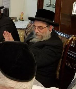 Rabbi Nuchem Klein, at the May meeting with Dov Hikind.