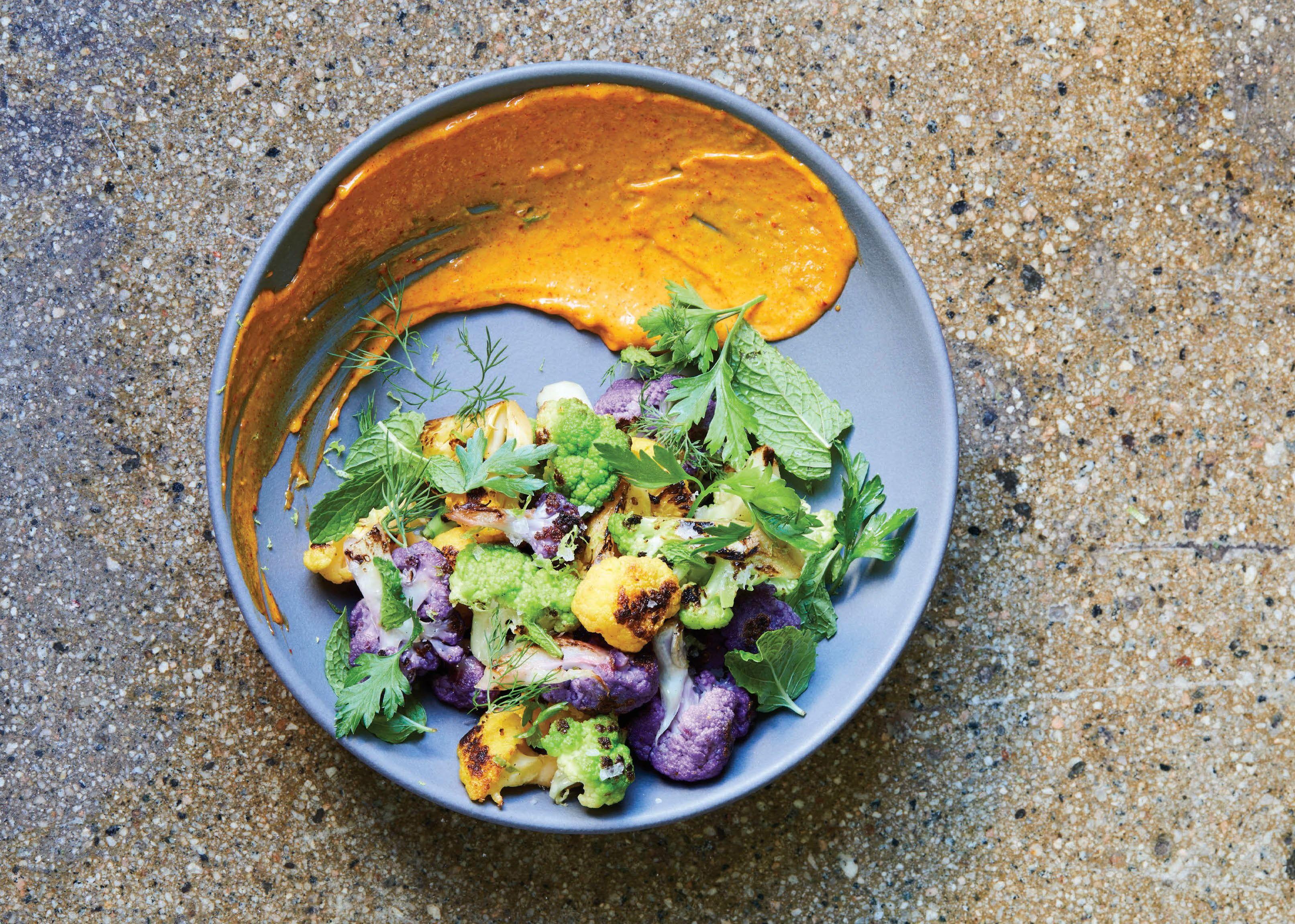 Bestia's Roasted Cauliflower With Paprika Aioli And Soft Herbs
