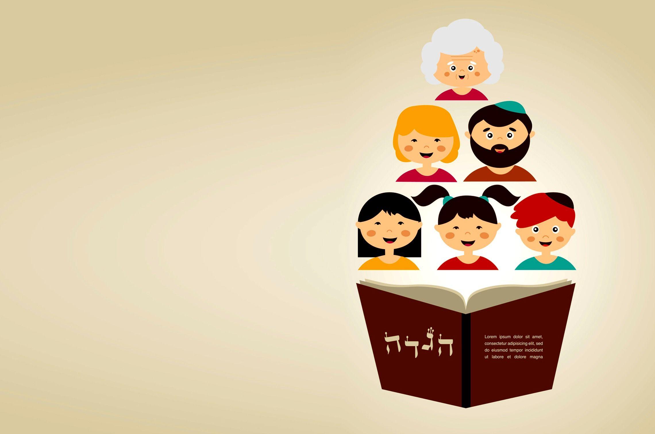 Family On Passover Passover Door Open u0026