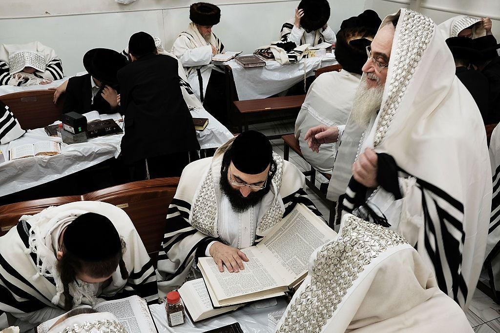 A Hasidic yeshiva in Brooklyn, New York.
