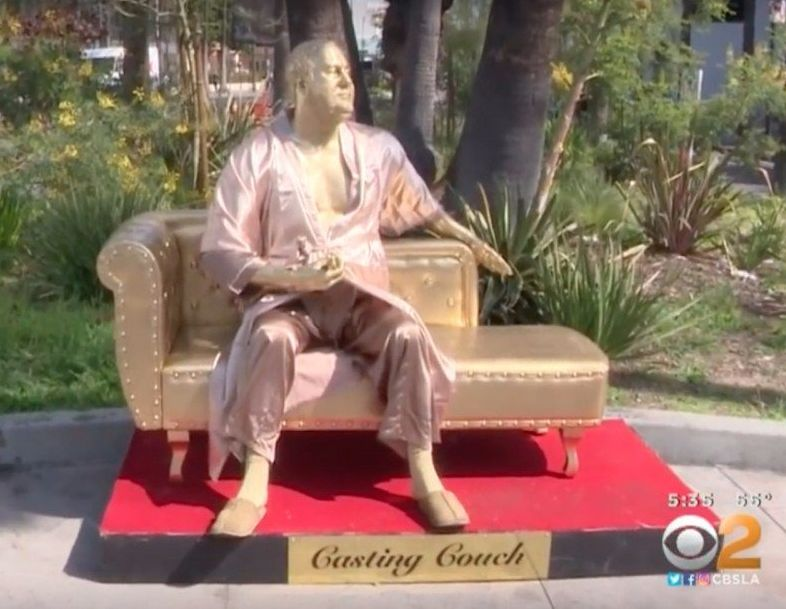 Harvey Weinsteins Casting Couch A New Sculpture In Hollywood