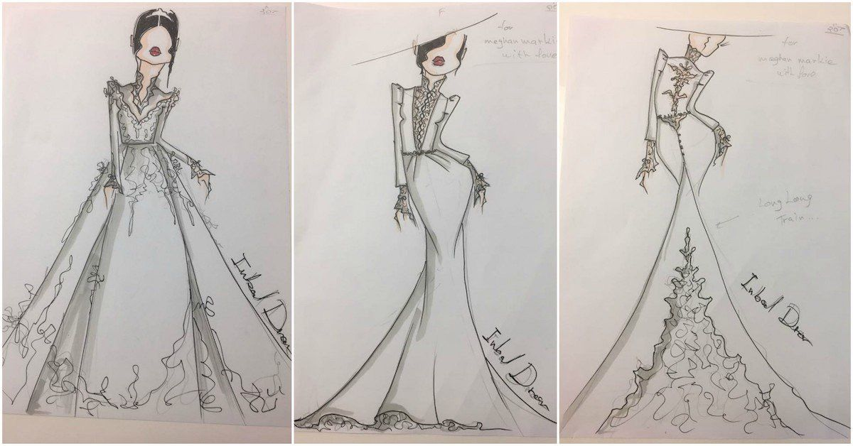 Inbal Dror\'s Sketches of Meghan Markle\'s Dress Leaked – The Forward