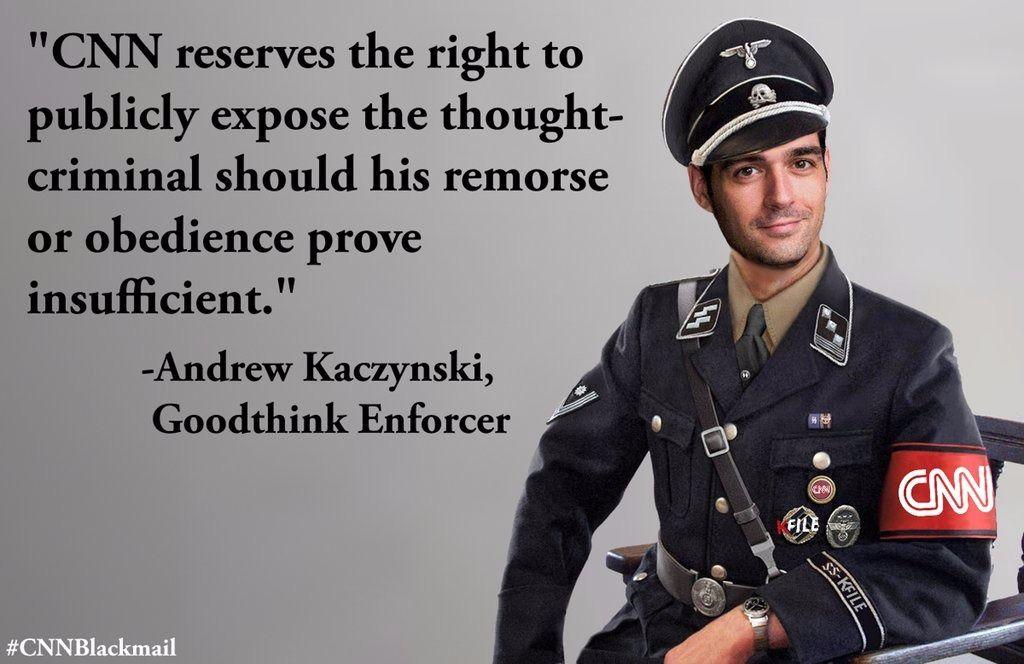kaczynski cnn ss officer trump wrestling meme 1499270676 did cnn 'blackmail' 'alt right' meme maker? the forward
