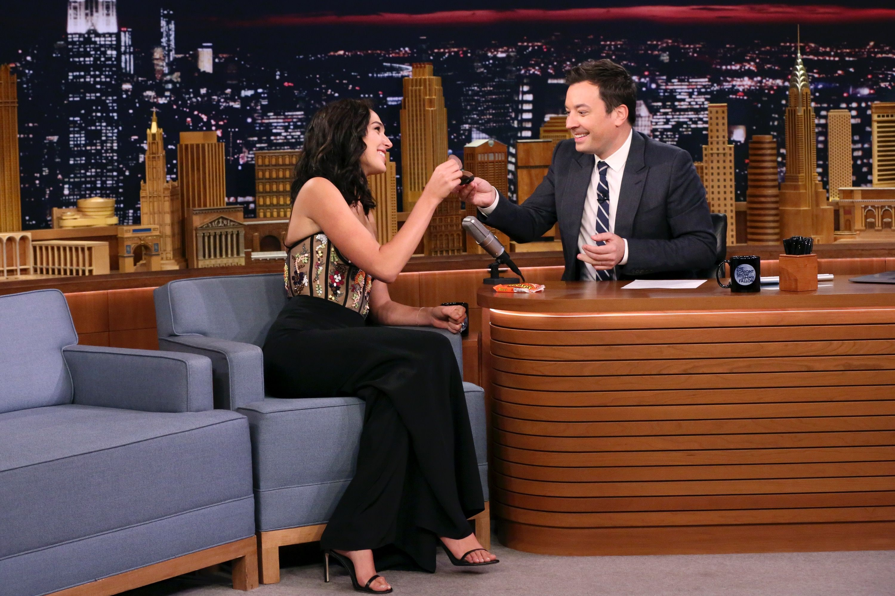 Actress Gal Gadot During An Interview With Host Jimmy Fallon On October 5,  2017