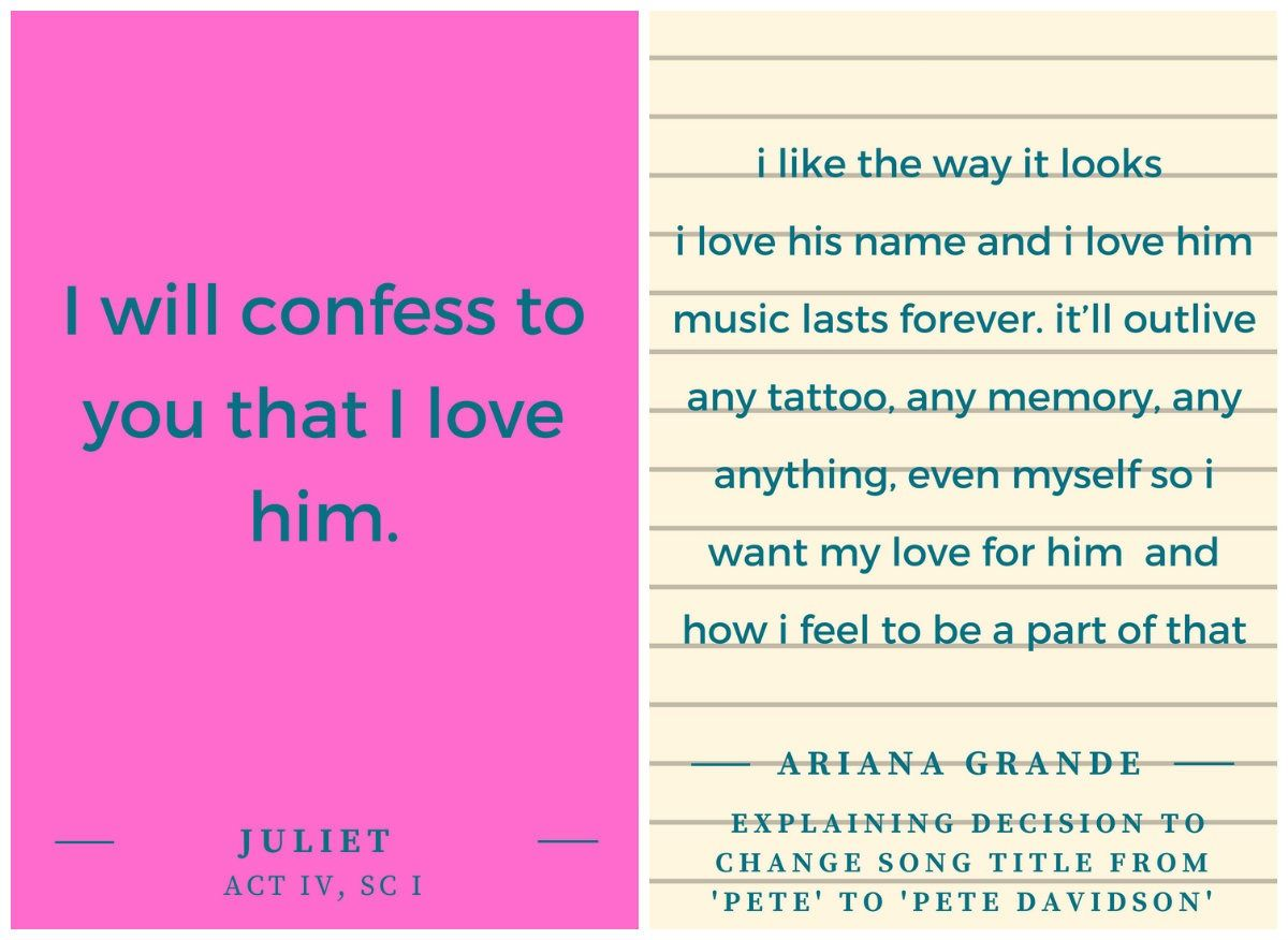 Ariana and Pete\'s Love Story As Romeo & Juliet Quotes – The Forward