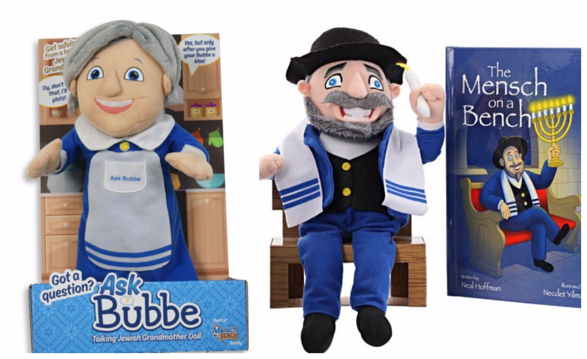 The Mensch On A Bench Has Found His Match In Bubbe The