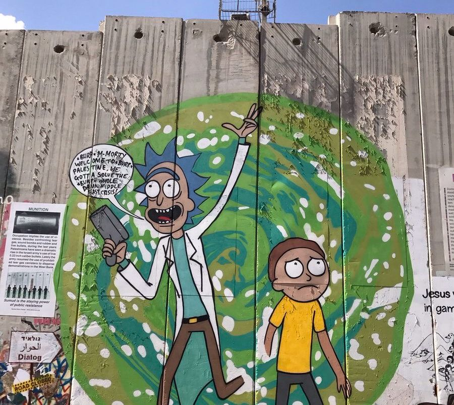 Graffiti Artist Paints Rick And Morty On West Bank Wall – The Forward