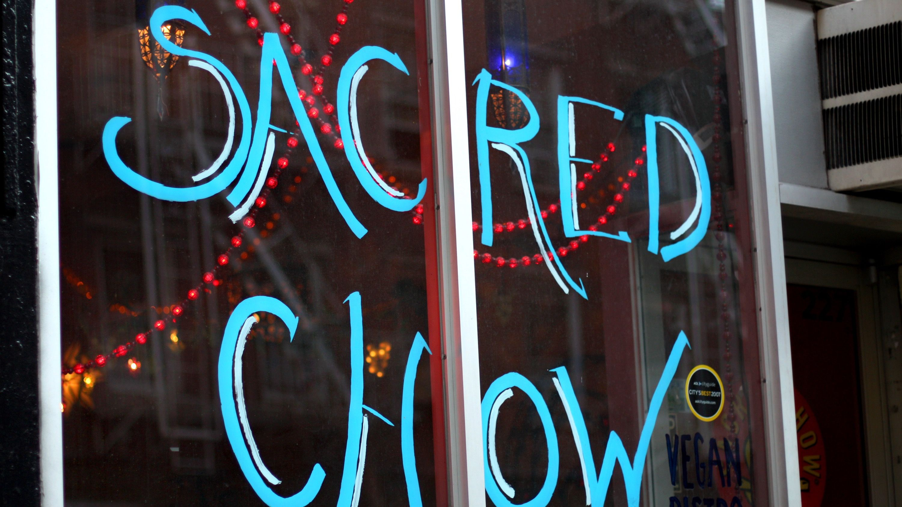 Controversial rabbi makes vegan restaurants kosher the forward the name of the vegan restaurant sacred chow is hand painted on its glass storefront biocorpaavc Image collections