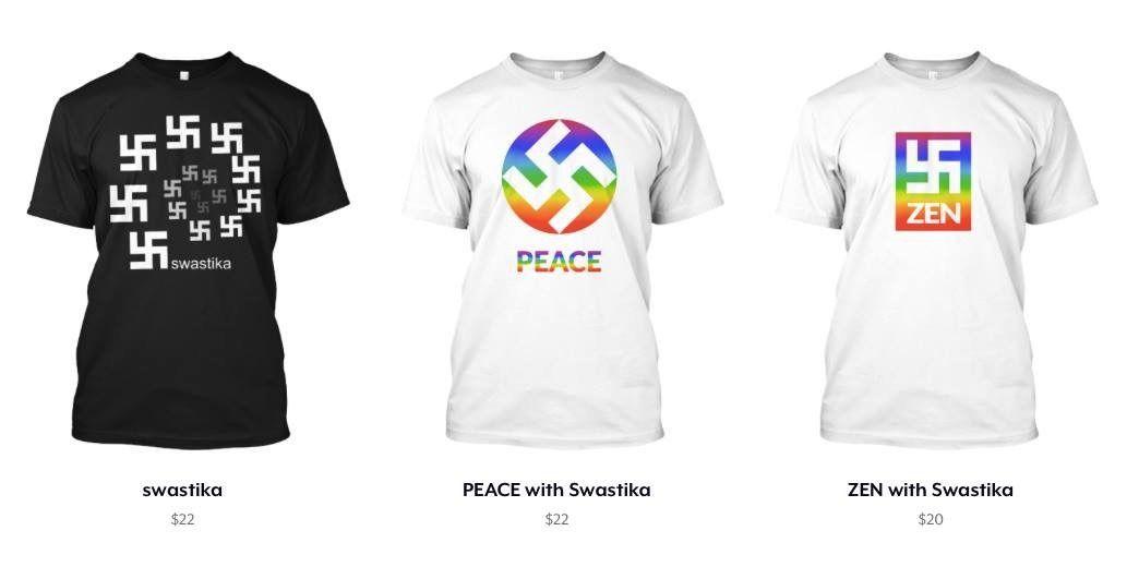 T Shirt Company Sells Rainbow Swastika Design The Forward