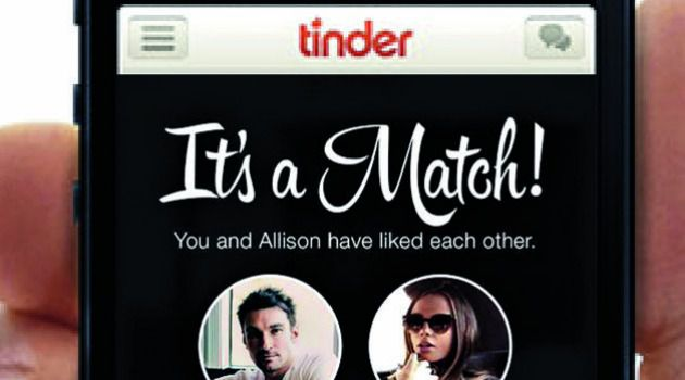Tinder dating application joke