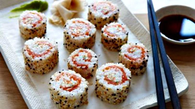 Everything bagel sushi and all the weeks top dish the forward everything bagel sushi rolls from the food network forumfinder Images