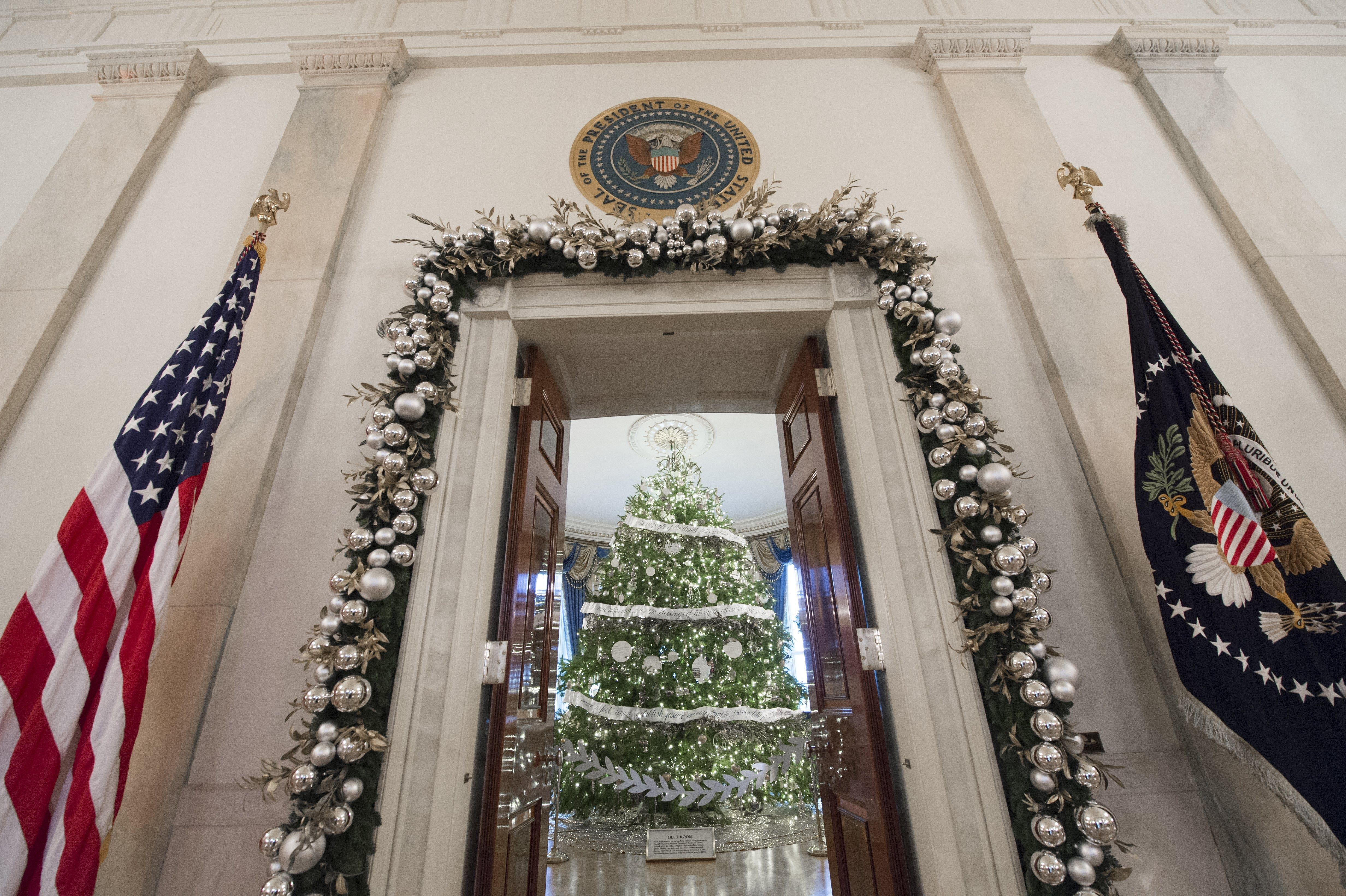Trump White House Christmas.Eric Trump Said His Dad Ran To Protest Holiday Tree